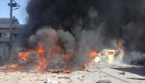 إصابات بانفجار سيارة عسكرية في مدينة جرابلس شمال حلب