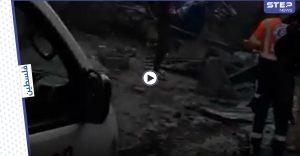 بالفيديو | قتيل وإصابات بانفجار ضخم ضرب سوق تجاري وسط قطاع غزة