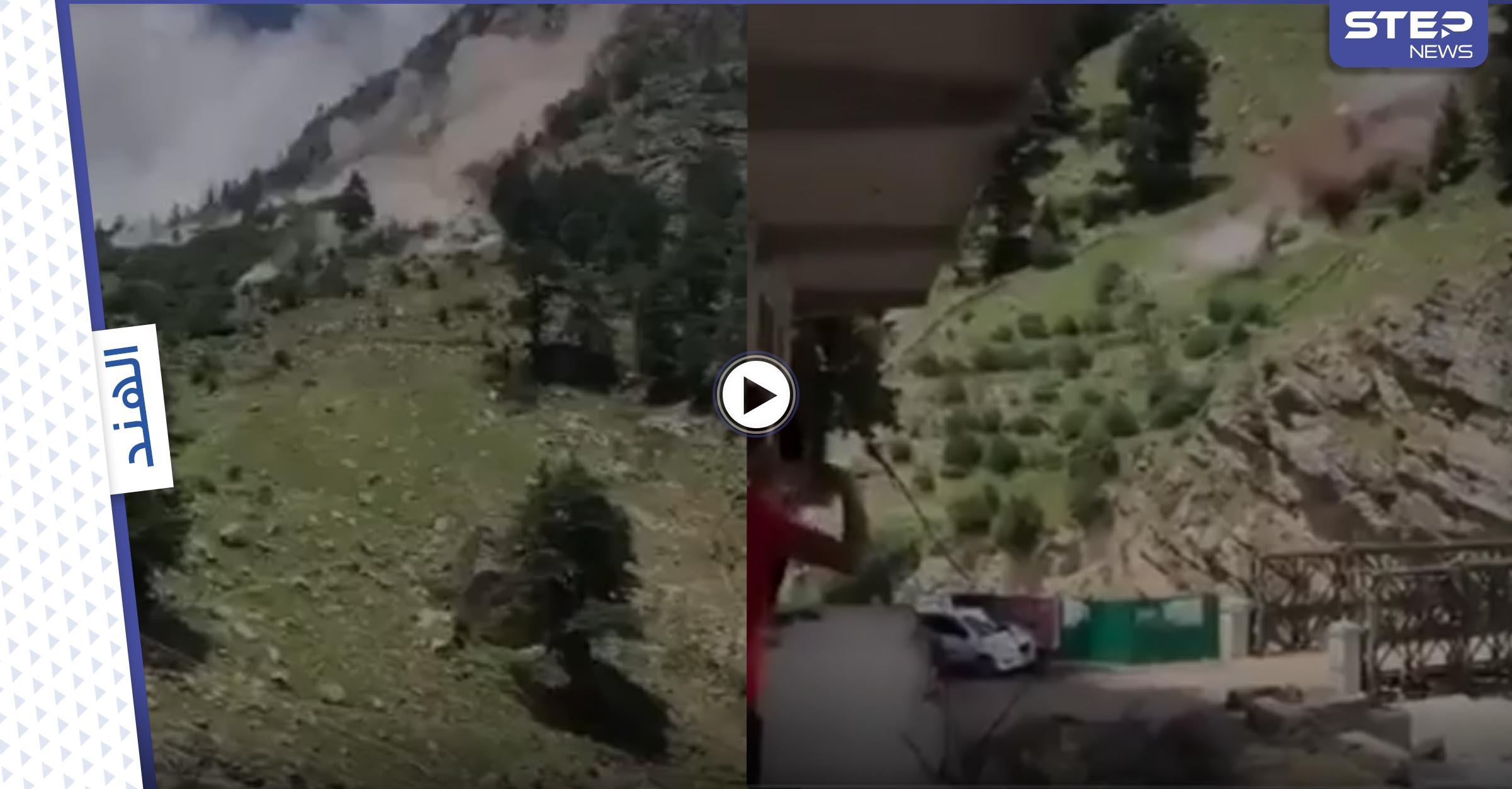 بالفيديو   انهيار صخري مرعب بالهند تسبب بدمار واسع ومقتل 9 أشخاص وتدمير جسر