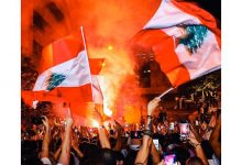 بالفيديو   تظاهرات بقلب العاصمة تصعّد الهتاف ضدّ إيران وميليشيا حزب الله بذكرى انفجار مرفأ بيروت