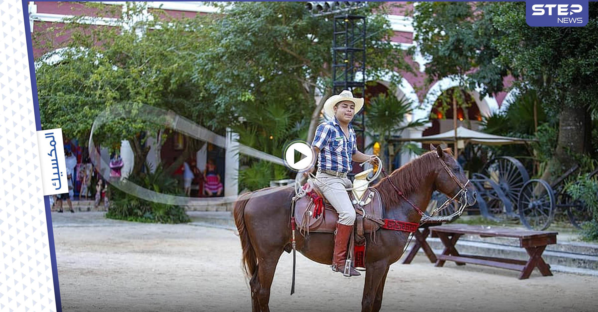 حادثة مرعبة في مسابقة رعاة البقر بالمكسيك