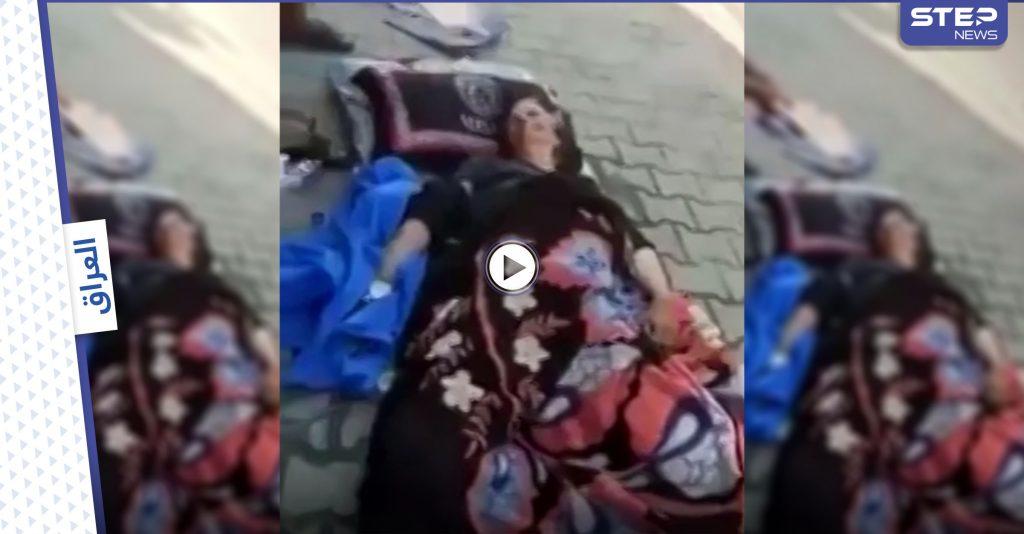 بالفيديو   امرأة مسنة مرمية أمام مستشفى اليرموك في العراق تصرخ وتطلب المساعدة من المارة تثير الجدل