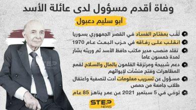 """وفاة أقدم مسؤول لدى عائلة الأسد """"أبو سليم دعبول"""""""