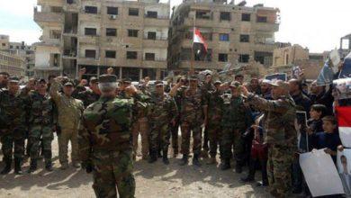 بالفيديو   جنود الأسد يدبكون على أبواب إدلب فيما قصف النظام على مخيّم فيها يخلّف ضحايا