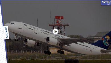 طائرة سعودية تغير مسارها بشكل مفاجئ وتعود للمطار بعد إقلاعها بسبب سيدة (فيديو)