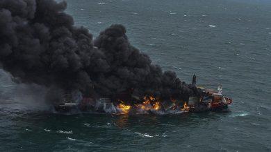 بالفيديو || حريق كبير بسفينة إسرائيلية تحمل مواداً خطرة قبالة سواحل كندا