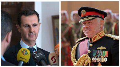 العاهل الأردني يتلقى اتصالاً من بشار الأسد تناول تعزيز التعاون