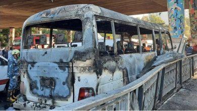 النظام السوري يعلّق على استهداف حافلة المبيت وسط دمشق